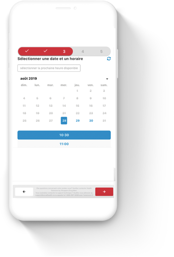 screenshot of Shoppers Drug Mart Virtual Care on mobile device